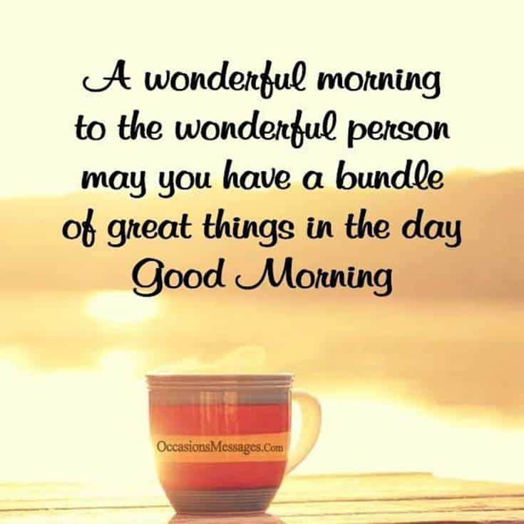 35 Inspirational Good Morning Quotes and Wishes 8