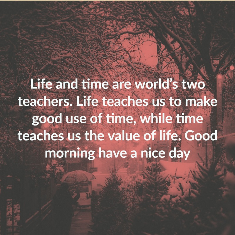 Inspirational Good Morning Quotes and Wishes nice day