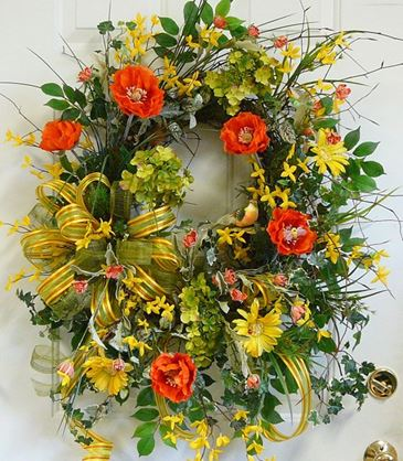 yellow wreaths