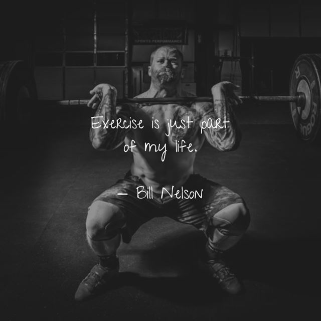 Positive exercise quotes about fitness for life and strength