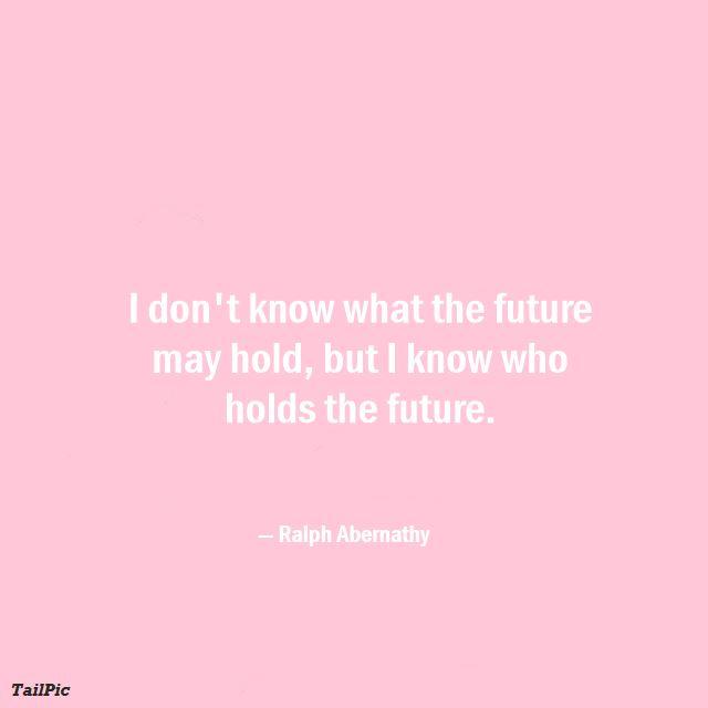nobody can predict the future quote