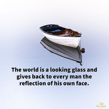 reflection quotes water