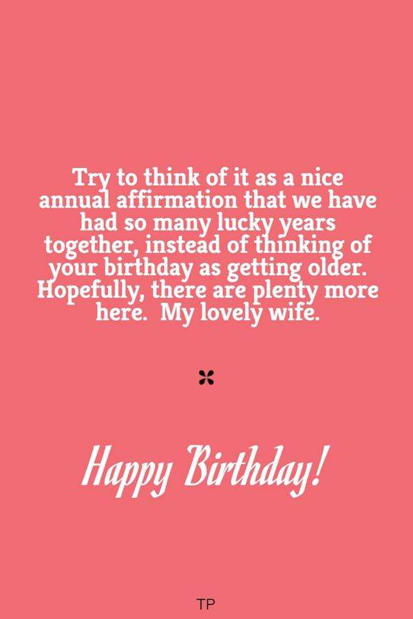 cutest birthday wishes for wife true love words