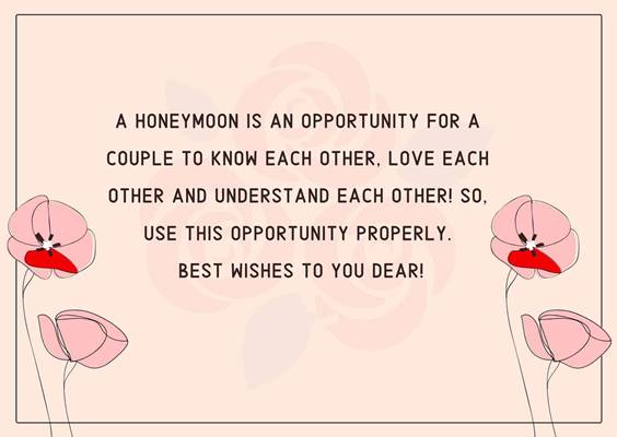 Funny Honeymoon Wishes For Friend