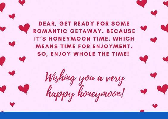 Wishes To Honeymoon Couple