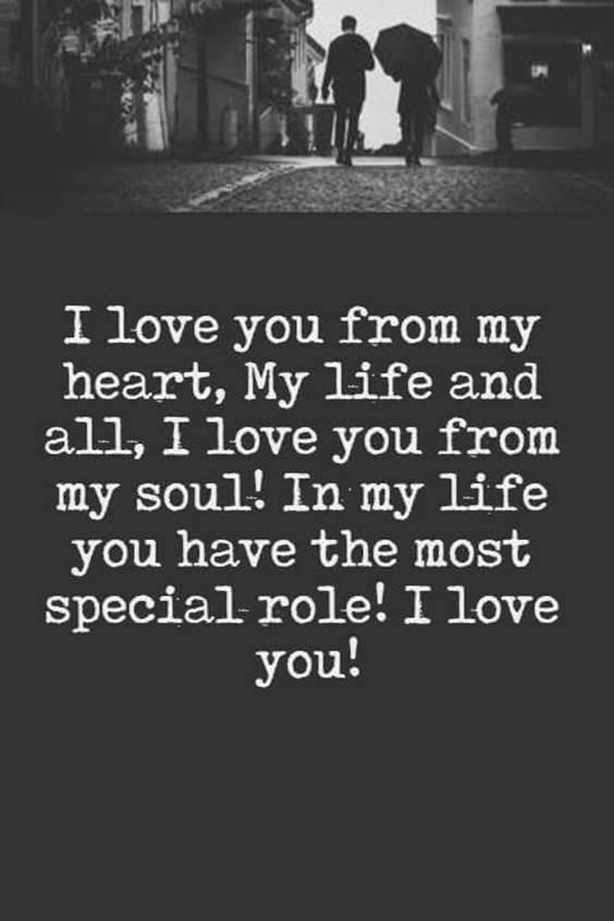 I Love You With All My Heart Message