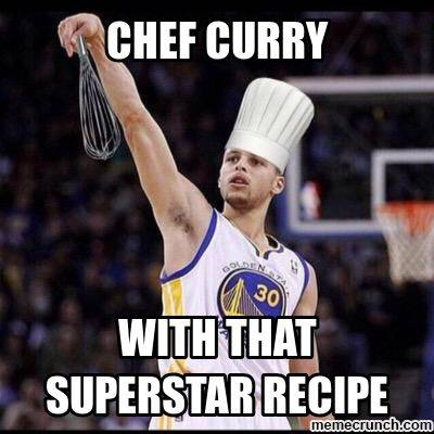 """Captions For Basketball """"Chef curry with that superstar recipe"""""""