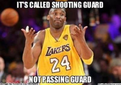 "Basketball Pun ""It's called shooting guard not passing guard"""