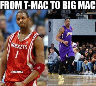 """Best Of Memes """"From t-mac to big mac"""""""