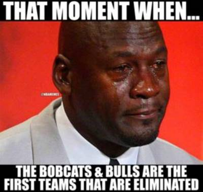 """Funny Nba Pictures """"That moment when… The bobcats & bulls are the first teams that are eliminated"""""""