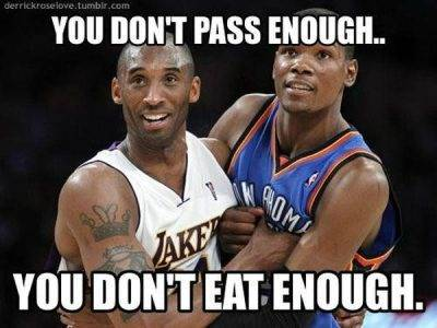 """Funny Nba Pictures With Captions """"You don't pass enough.. You don't eat enough."""""""