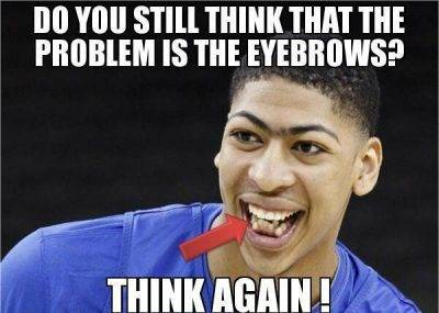 """Funniest Jokes """"Do you still think that the problem is the eyebrows? Think again!"""""""