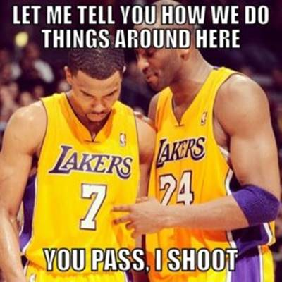 """Basketball Quotes Short """"Let me tell you how we do things around here you pass, I shoot"""""""