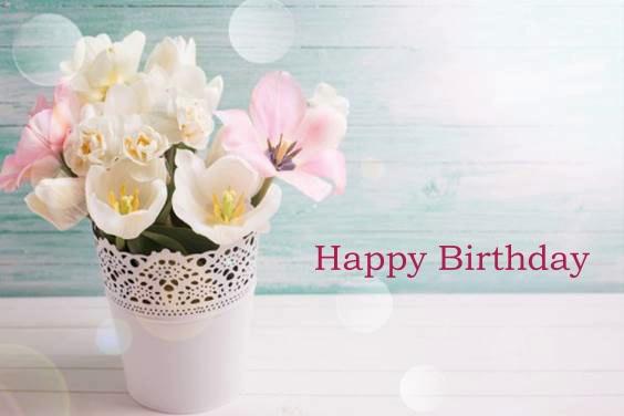 60th birthday flowers happy