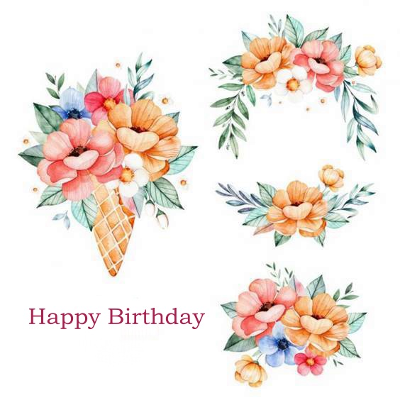 beautiful happy birthday bouquet