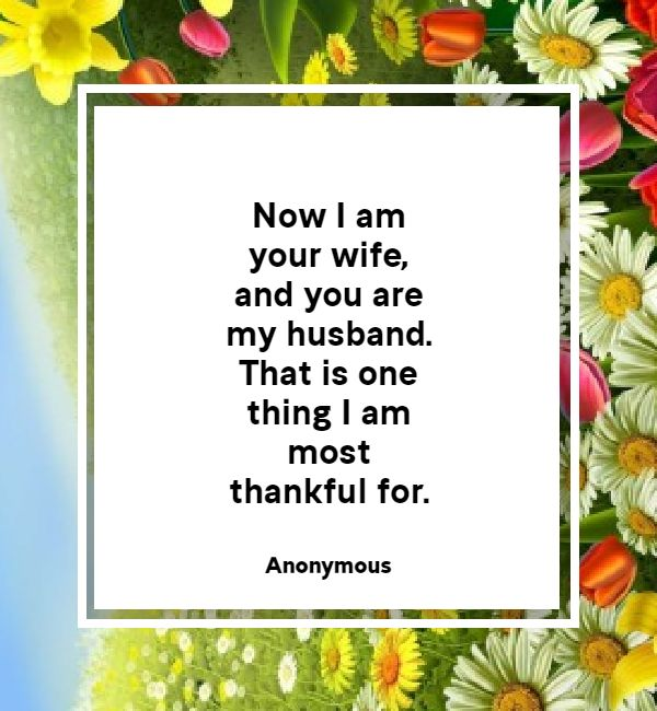 Thank You Messages For Husband - Romantic & Sweet